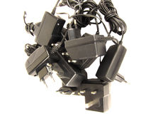 Mobile phone chargers diversity Stock Images