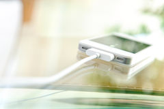 Mobile phone. Charging of Royalty Free Stock Photo