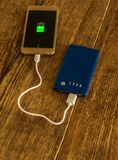 Mobile phone charging Royalty Free Stock Photo