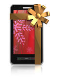 Mobile phone christmas gift Royalty Free Stock Photo