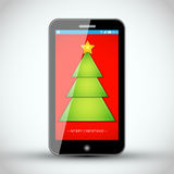 Mobile Phone - Christmas Vector Design Royalty Free Stock Image