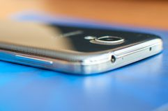Mobile phone close up, smartphone royalty free stock photo