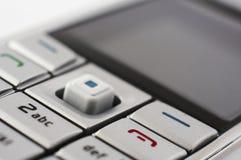 Mobile phone closeup. Close up of mobile phone keypad Royalty Free Stock Image