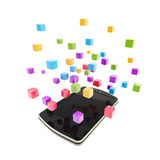 Mobile phone cloud computing concept Royalty Free Stock Photography