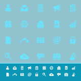 Mobile phone color icons on blue background Stock Photography
