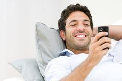 Mobile phone communication Stock Photo