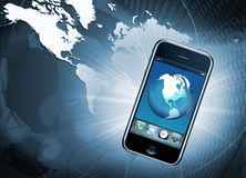 Mobile phone communication Stock Images