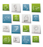 Mobile Phone and communication icons Stock Photos
