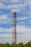 Mobile phone communication repeater antenna tower Stock Photos