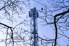 Mobile Phone Communications Tower. Photo Of A Mobile Phone Communications Tower Stock Photography