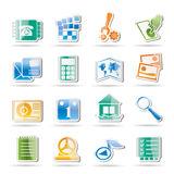 Mobile Phone and Computer icon Royalty Free Stock Image