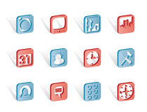 Mobile Phone and Computer icons Royalty Free Stock Photo
