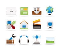 Mobile phone and computer icons Royalty Free Stock Images