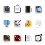 Mobile Phone, Computer and Internet Icons Royalty Free Stock Photos