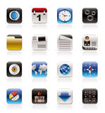 Mobile Phone, Computer and Internet Icons royalty free stock images