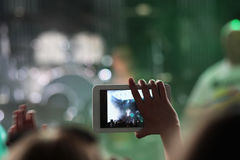 Mobile phone at a concert 2 stock image