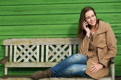 Mobile Phone Conversation Royalty Free Stock Images