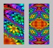 Mobile phone cover back with beautiful multicolored Pattern  Stock Photo
