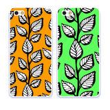 Mobile phone cover back pattern, template. Vector illustration. Editable elements under clipping mask. Phone case collection. Mobile phone cover back and screen Stock Image