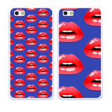Mobile phone cover back pattern, template. Vector illustration. Editable elements under clipping mask. Phone case collection. Mobile phone cover back and screen Royalty Free Stock Image