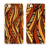 Mobile phone cover back pattern, template. Vector illustration. Editable elements under clipping mask. Phone case collection. Mobile phone cover back and screen Stock Images