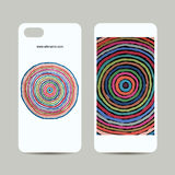 Mobile phone cover design, abstract circles pattern. Vector illustration Stock Photo