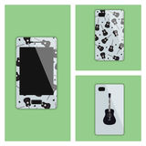 Mobile phone cover with guitars Royalty Free Stock Photography