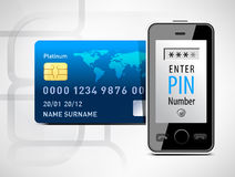 Mobile phone and credit card Royalty Free Stock Images
