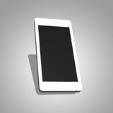 Mobile phone 3d plain graphic on grey. Smartphone 3d plain graphic on grey with the shadow behind Stock Images