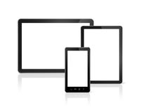 Mobile phone and digital tablet pc Stock Photography