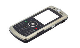 Mobile phone. Display - white background. Isolated object Royalty Free Stock Photography