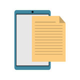 Mobile phone document file paper digital. Vector illustration eps 10 Royalty Free Stock Photo