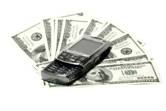Mobile Phone and Dollar Concept Stock Photos
