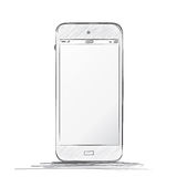 Mobile Phone Drawing. Hand drawn vector mobile phone Royalty Free Stock Photo