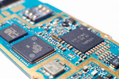 Mobile phone electronic board Stock Images