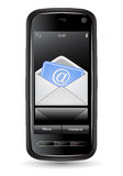 Mobile phone with email Stock Images