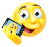 Mobile Phone Emoji Emoticon Royalty Free Stock Image