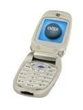 Mobile phone with enter button Stock Photos