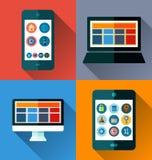 Mobile phone flat design Stock Image