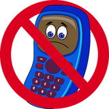 Mobile phone forbidden Royalty Free Stock Photo
