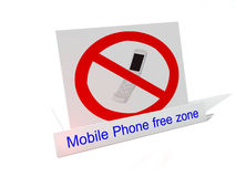 Mobile Phone free zone Stock Images