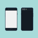Mobile Phone front and back Stock Photography