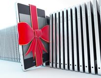 Mobile phone gift Stock Image