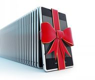 Mobile phone gift Royalty Free Stock Photo