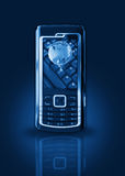 Mobile phone gprs concept Stock Images