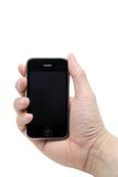 Mobile phone hand Stock Image