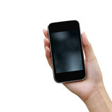 Mobile phone in the hand Stock Photography