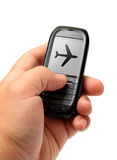 Mobile phone in hand Stock Photography