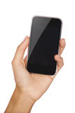 Mobile phone in the hand with copyspace Royalty Free Stock Photos