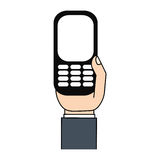 Mobile phone in hand screen Royalty Free Stock Images